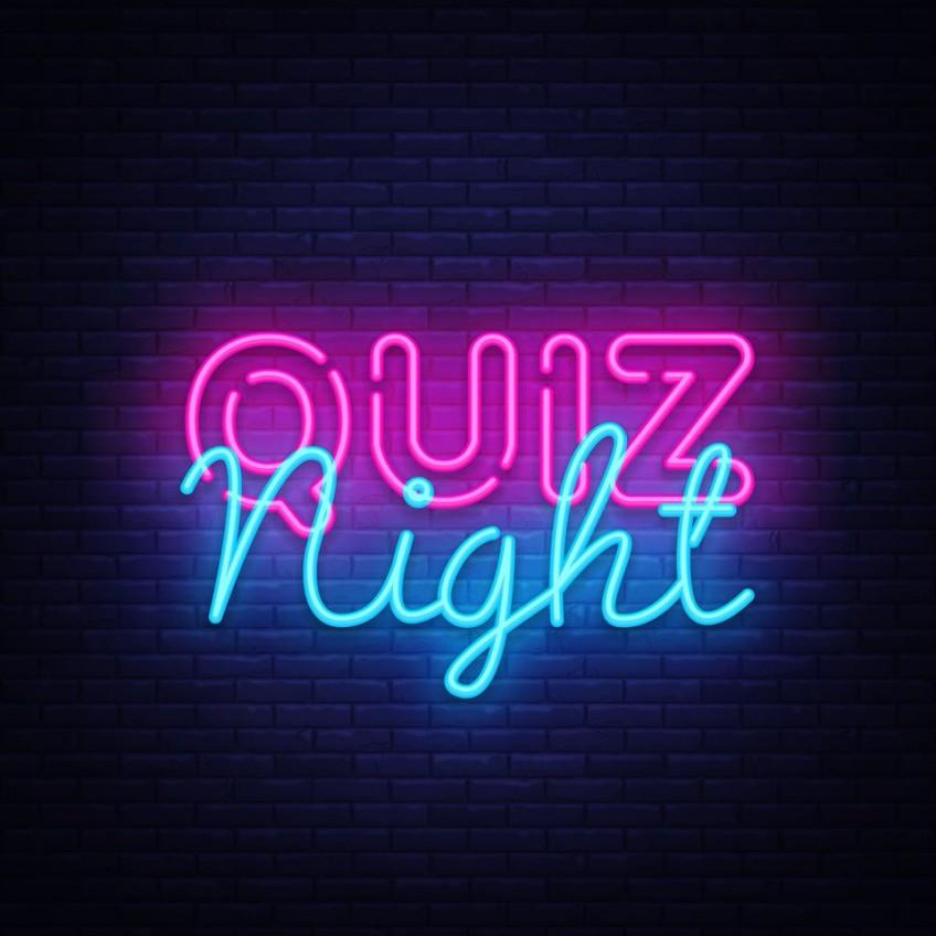 Quiz night Thursday 9th January 2020